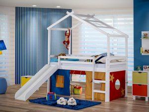 cama com telhado