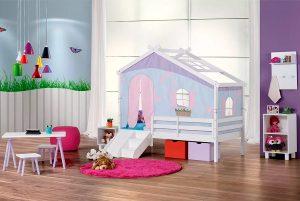 cama prime casinha lilas