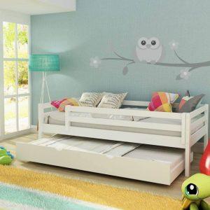 cama infantil prime cama auxiliar gaveto e grade de protecao