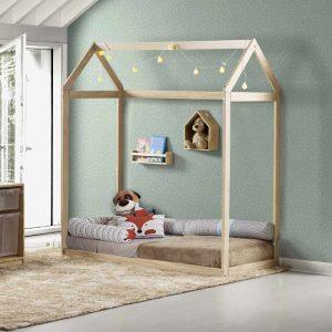 mini cama montessoriana casinha ii natural casatema