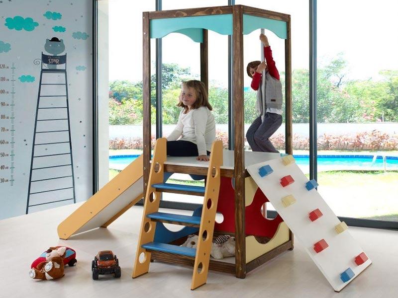 Torre Playground para Brinquedoteca II com Multibrinquedos - Casatema