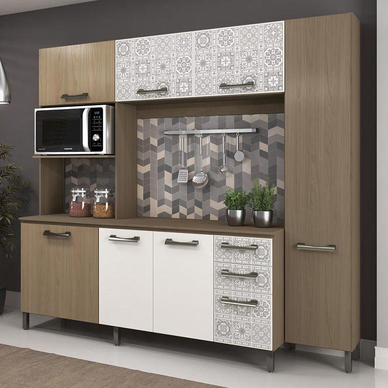 cozinha compacta e780 nature branco kappesberg