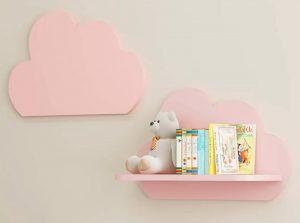 prateleira rosa de bebe
