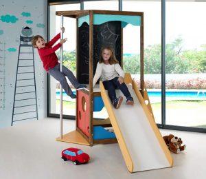 Torre Playground infantil com escorregador