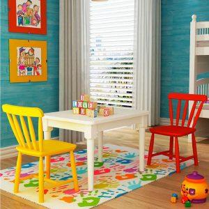 Conjunto de mesa com duas cadeirinha infantil