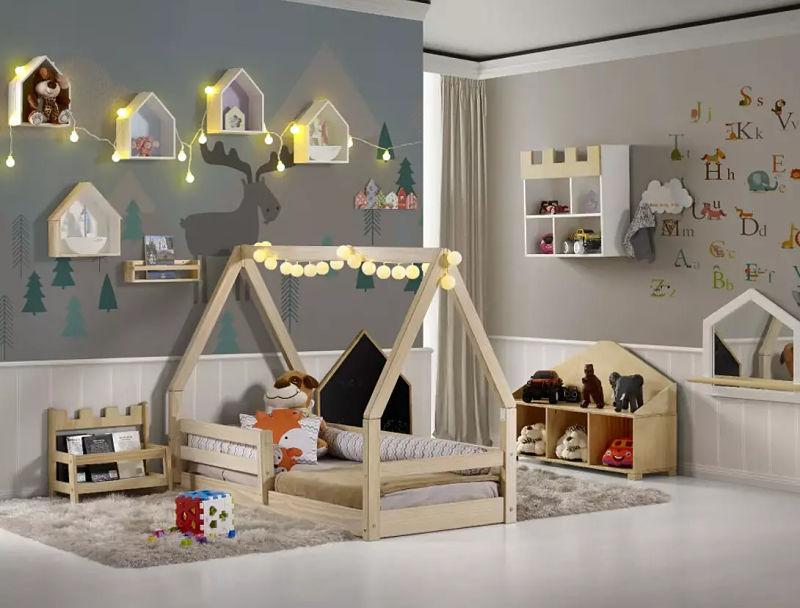 cama montessoriano com grades de proteção