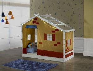 cama infantil com telhadinho e tenda