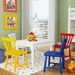 conjunto infantil_mesa com 4 cadeiras