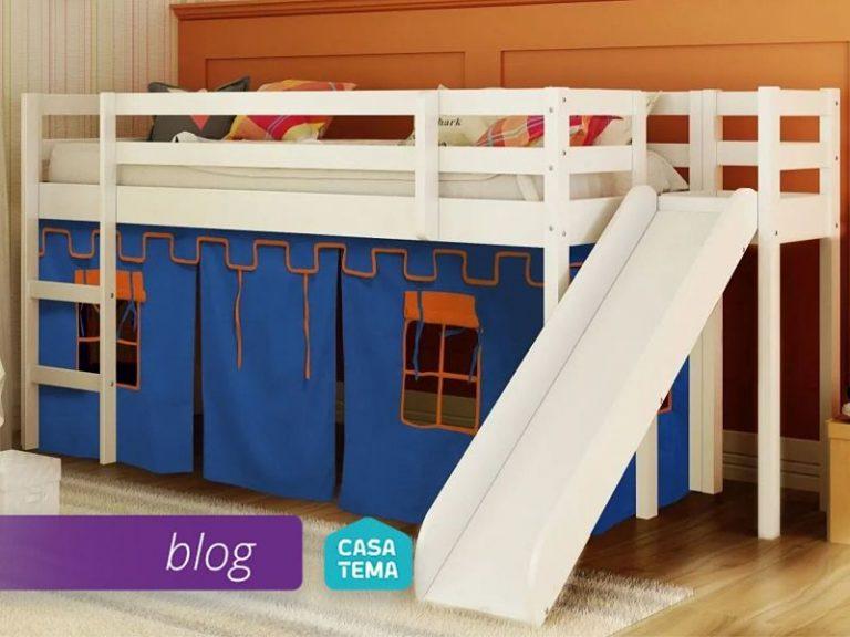 cama com escorregador tenda para menino
