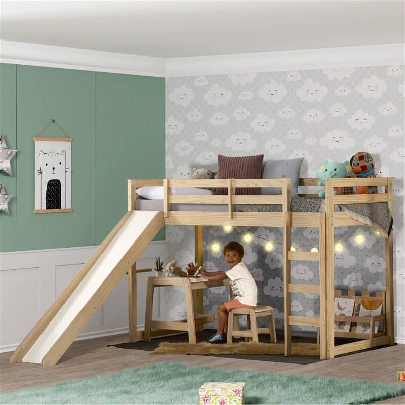 cama infantil com escorregador