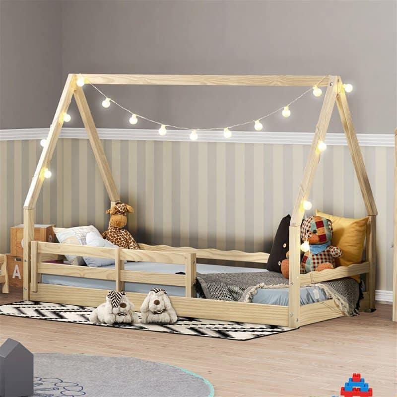 cama infantil com telhado