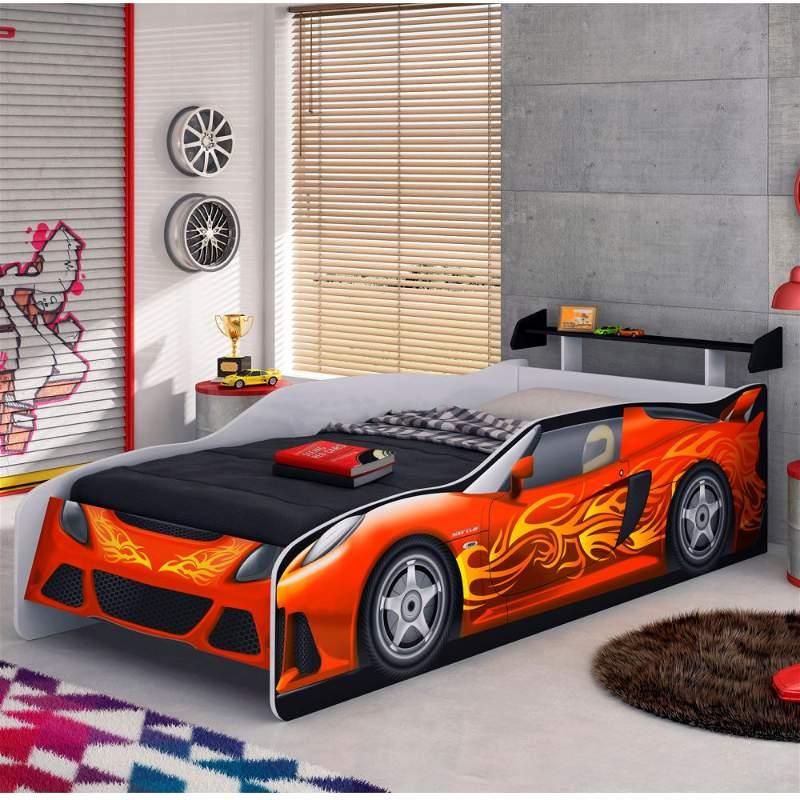 cama em formato de carro