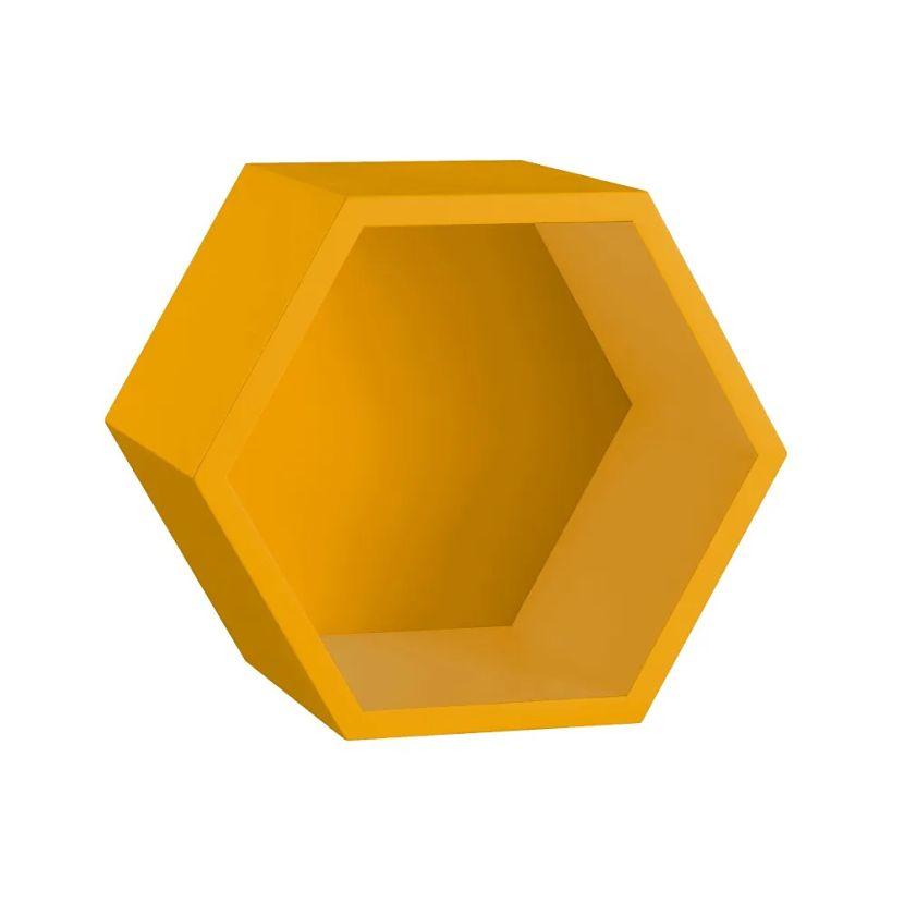 nicho favo em mdf laqueado amarelo
