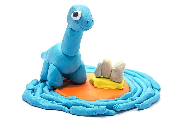dinossauro de massinha