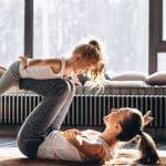 exercicio com filha