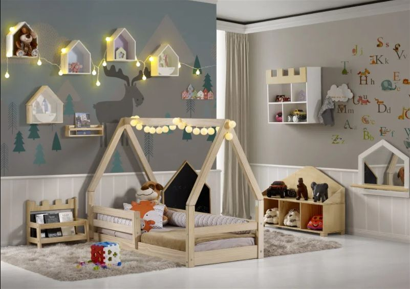 decoração de floresta quarto infantil