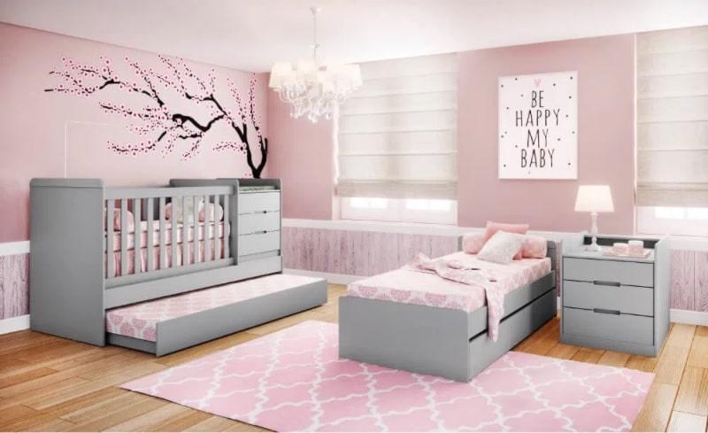 quarto de bebe infantil feminino