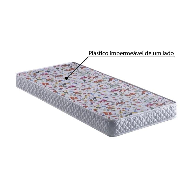 colchão com plástico impermeável