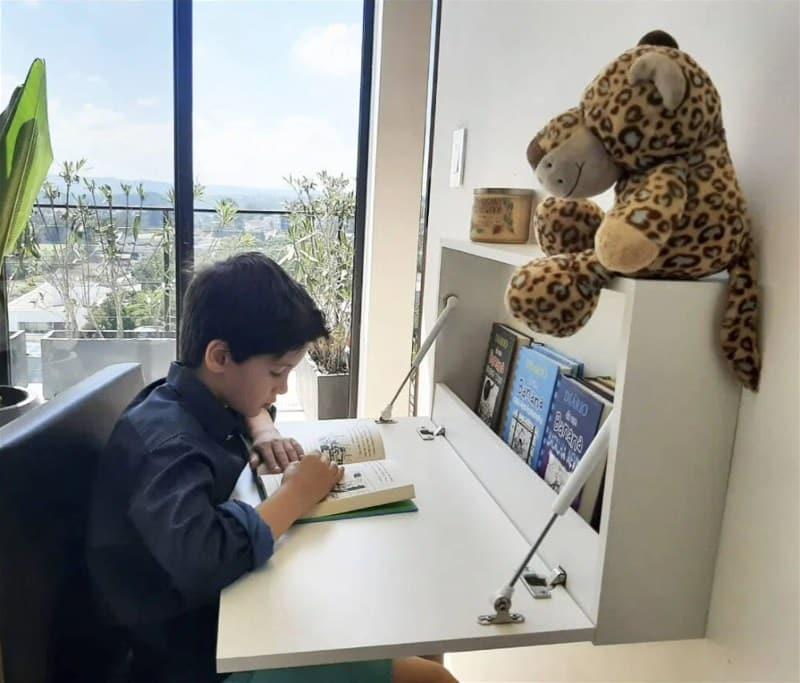 Escrivaninha Juvenil Mesa Suspensa Dobrável