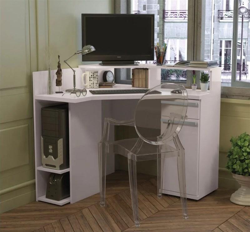 Mesa para Computador de Canto 1 Gaveta 1 Porta Kappesberg
